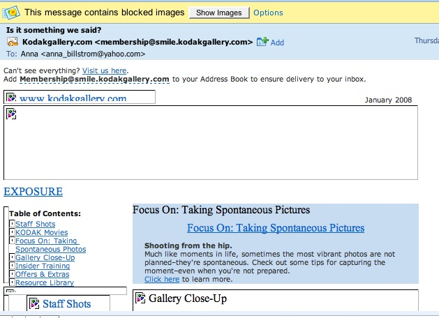 KodakGallery in Yahoo