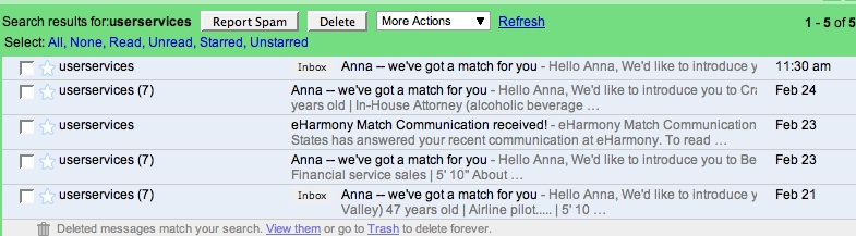 Unsubscribe from eharmony emails