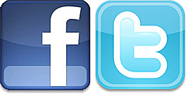 facebook twitter logo Report on Online Marketing: How Effective are Facebook and Twitter?